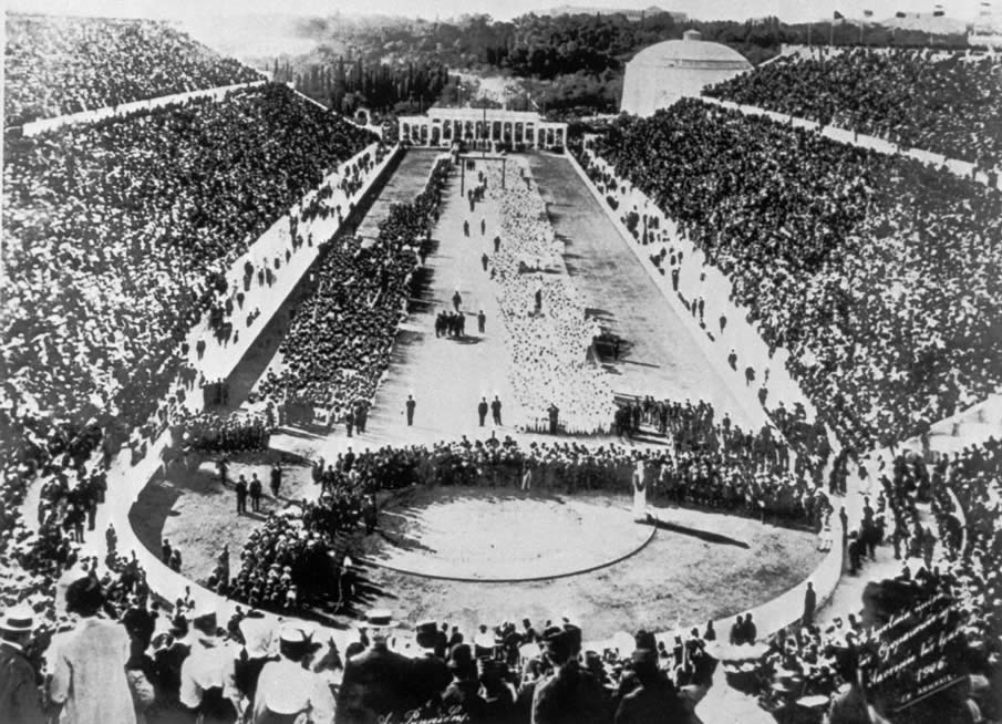 พิธีเปิดการแข่งขันกีฬาโอลิมปิกฤดูร้อนครั้งแรกในปี ค.ศ. 1896